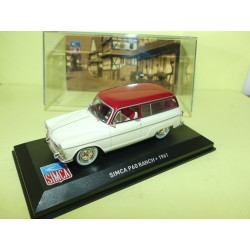 SIMCA P60 RANCH 1961 Blanc et Rouge ALTAYA 1:43