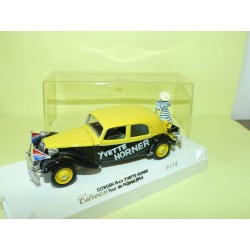 CITROEN TRACTION TOUR DE FRANCE 1955 YVETTE HORNER sur base SOLIDO 1:43