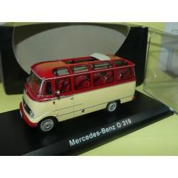 MERCEDES O 319 BUS Bordeaux et Crème SCHUCO 02811 1:43