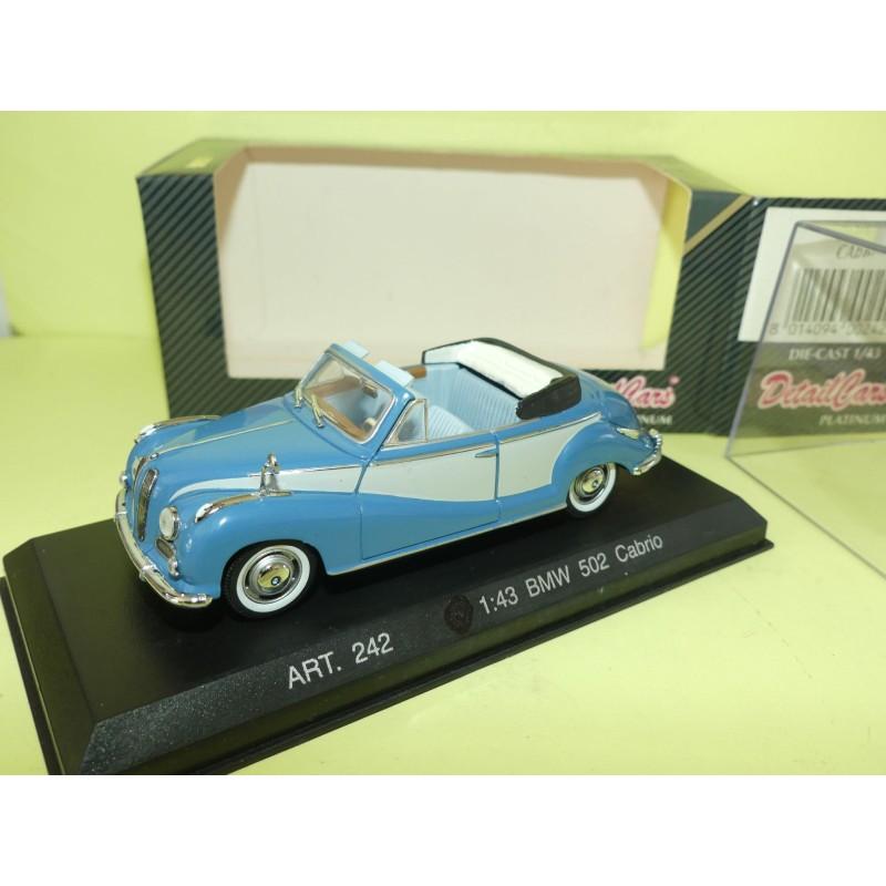 BMW 502 CABRIOLET Bleu DETAILCARS 242 1:43