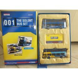 CAR BUS THE SOLENT BLUE LINE 001 CORGI OM99166 1:76