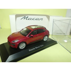 PORSCHE MACAN TURBO Bordeaux PORSCHE MUSEUM WELLY 1:43