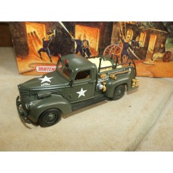 CHEVROLET ARMY FIRE TRUCK 1941 POMPIERS MILITAIRE MATCHBOX YYM35189 1:43