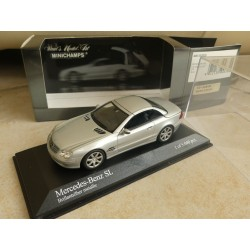 MERCEDES SL  WITH OPENING ROOF 2001 Gris 1:43