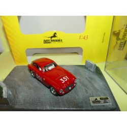 FERRARI 166 COUPE N°351 MILLE MIGLIA 1951 ART MODEL ART910 dans son diorama 1:43