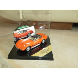 CHEVROLET CORVETTE C3 1969 Orange Capote Noir VITESSE L110C 1:43