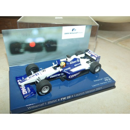 WILLIAMS FW22 GP 2001 LAUNCH VERSION R. SCHUMACHER MINICHAMPS 1:43