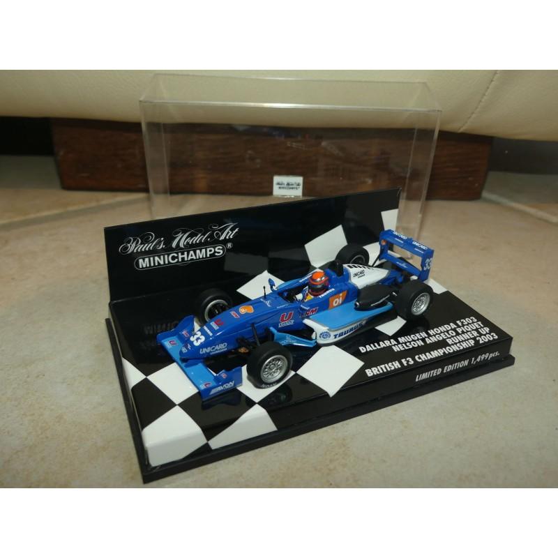 DALLARA MUGEN HONDA F303 GP BRISTISH F3 2003 N.A. PIQUET MINICHAMPS 1:43