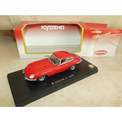 JAGUAR TYPE E COUPE Rouge KYOSHO 03061G 1:43