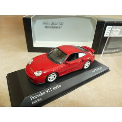 PORSCHE 911 TURBO 996 1999 Rouge  MINICHAMPS 1:43