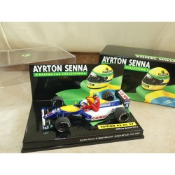 WILLIAMS RENAULT GP D'ANGLETERRE 1991 N. MANSELL et A. SENNA MINICHAMPS 1:43