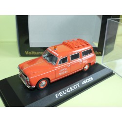 PEUGEOT 403 BREAK POMPIERS DE MEILHAUD NOREV 1:43