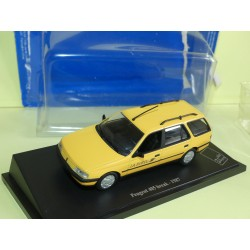 PEUGEOT 405 BREAK 1987 PTT LA POSTE UNIVERSAL HOBBIES  1:43 blister