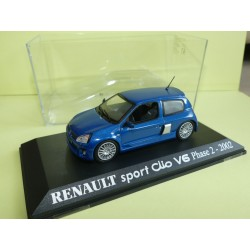 RENAULT CLIO SPORT V6 Phase 2 2002 Gris UNIVERSAL HOBBIES Collection M6 1:43