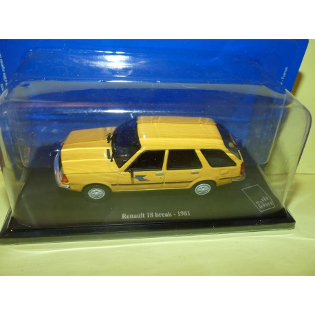 RENAULT 18 BREAK 1981 PTT LA POSTE UNIVERSAL HOBBIES  1:43 blister
