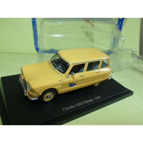 CITROEN AMI 6 BREAK 1968 PTT LA POSTE UNIVERSAL HOBBIES ATLAS 1:43 blister