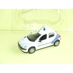 PEUGEOT 206 POLICE DE BRUXELLE NOREV 1:43 sous coque