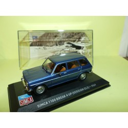 SIMCA 1100 BREAK 4 UP ( version GLS ) 1969 Bleu ALTAYA 1:43