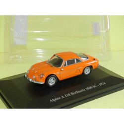 RENAULT ALPINE A110 BERLINETTE 1600 SC 1974 Orange ELIGOR presse 1:43