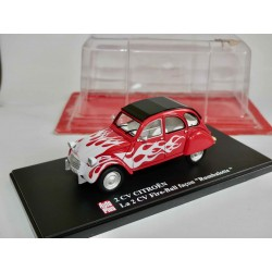 CITROEN 2CV N°048 FIRE BALL FAÇON RUMBALOTTE AUTO PLUS 1:43