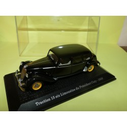 CITROEN TRACTION 15 LIMOUSINE COTY 1956 PRESIDENTIELLE ATLAS 1:43