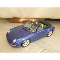 PORSCHE 911 CABRIOLET Type 993 1993 Bleu BURAGO 1:18 Sans Boite