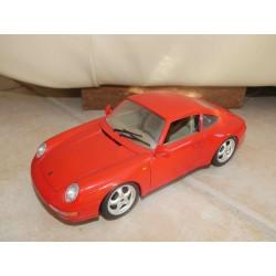 PORSCHE 911 COUPE Type 993 1993 Rouge BURAGO 1:18 Sans Boite