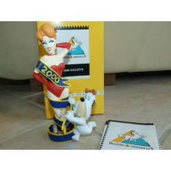STATUETTE GIRL MISS AN 2000 TEX AVERY DEMONS ET MERVEILLES