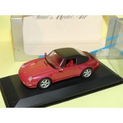 PORSCHE 911 CABRIOLET 993 1994 Soft Top Rouge Vin Red Met MINICHAMPS 1:43