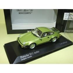 PORSCHE 911 TURBO 1977 Vert Light Green  MINICHAMPS 1:43