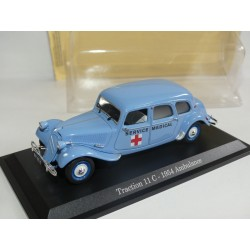 CITROEN TRACTION 11 C AMBULANCE 1954 Bleu UNIVERSAL HOBBIES  1:43 blister