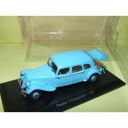 CITROEN TRACTION 11 COMMERCIALE Bleu  avec pain1955 UNIVERSAL HOBBIES 1:43 blister
