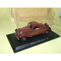 CITROEN TRACTION 11 A FAUX CABRIOLET 1936 Bordeaux UNIVERSAL HOBBIES 1:43 blister
