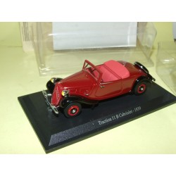 CITROEN TRACTION 11 B CABRIOLET 1939 Bordeaux UNIVERSAL HOBBIES 1:43 blister