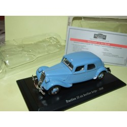 CITROEN TRACTION 15 SIX BERLINE BELGE 1949 Bleu UNIVERSAL HOBBIES 1:43 blister