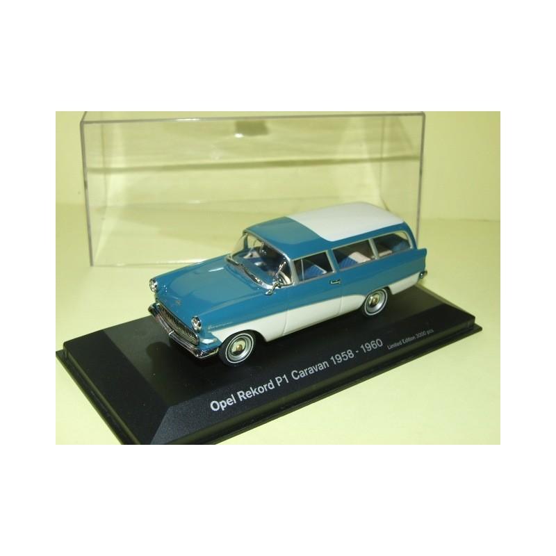 OPEL  REKORD P1 CARAVAN 1958-1960 Bleu-Blanc MINICHAMPS 1:43