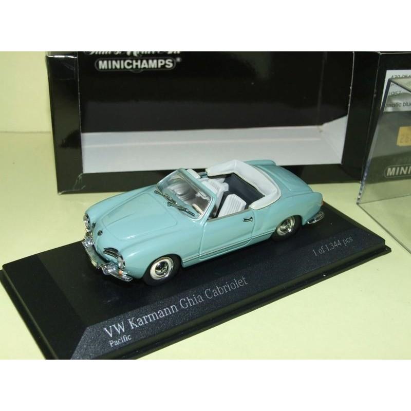 VW KARMANN GHIA CABRIOLET 1957 Bleu Pacific MINICHAMPS 1:43