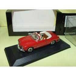 VW KARMANN GHIA CABRIOLET 1200 Rouge MINICHAMPS 1:43