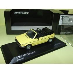 VW GOLF CABRIOLET 1980 Jaune MINICHAMPS 1:43