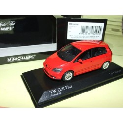 VW GOLF PLUS Rouge MINICHAMPS 1:43