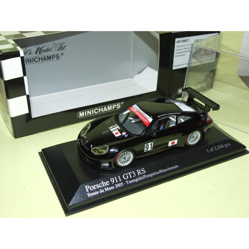PORSCHE 911 GT3 RS N°91 LE MANS 2005 ESSAIE MINICHAMPS 1:43