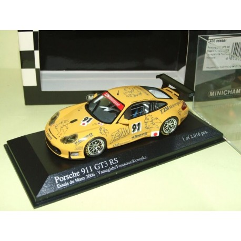PORSCHE 911 GT3 RS N°91 LE MANS 2006 ESSAI MINICHAMPS 1:43