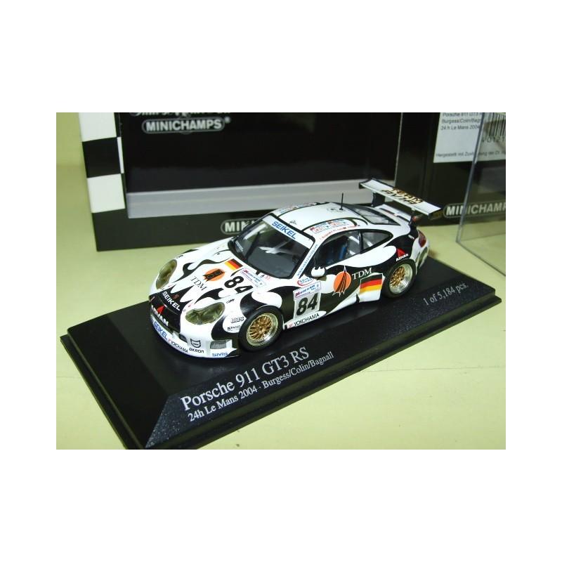 PORSCHE 911 GT3 RS N°84 LE MANS 2004 MINICHAMPS 1:43