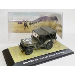 JEEP WILLYS MB GUERRE DU VIETNAM ATLAS 1:43