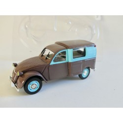 CITROEN 2CV N°094 FOURGONNETTE WEEK END BELGE NOREV 1:43 sous coque