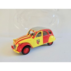 CITROEN 2CV N°118 Racing Club de Lens 1970 NOREV 1:43 sous coque