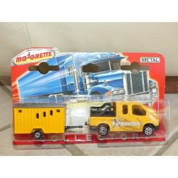 FORD TRANSIT EXTRACTOR et REMORQUE CHANTIER 300 COLLECTOR MAJORETTE 1:60