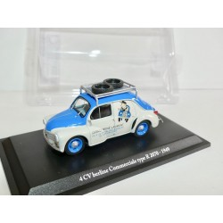 RENAULT 4CV BERLINE COMMERCIALE GARAGE RENE LAURENT ELIGOR PRESSE 1:43
