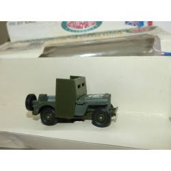 JEEP WILLYS BLINDEE MILITAIRE  SOLIDO  6122 1:43