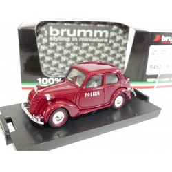FIAT 1100 E BERLINE POLIZIA BRUMM R453 1:43